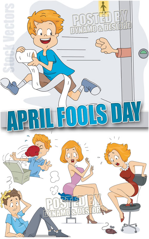 April Fools day - Stock Vectors