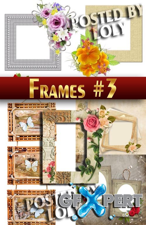Flower frame #2 - Stock Photo