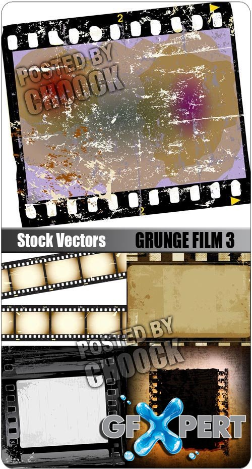 Grunge film 3 - Stock Vector