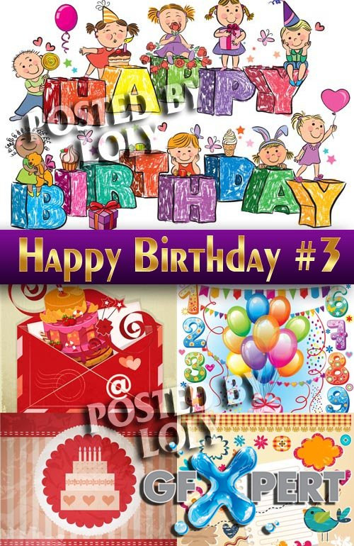 Happy Birthday! #3 - Stock Vector