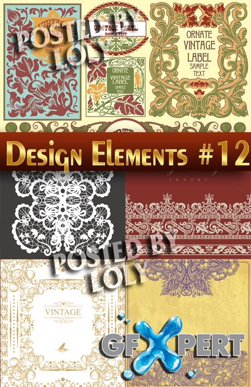Design elements #12 - Stock Vector
