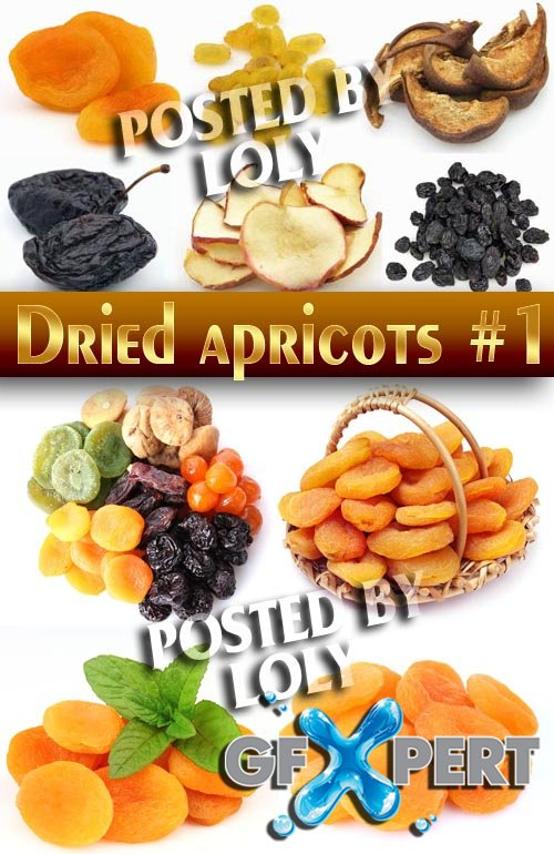 Fresh dried apricots # 1 - Stock Photo
