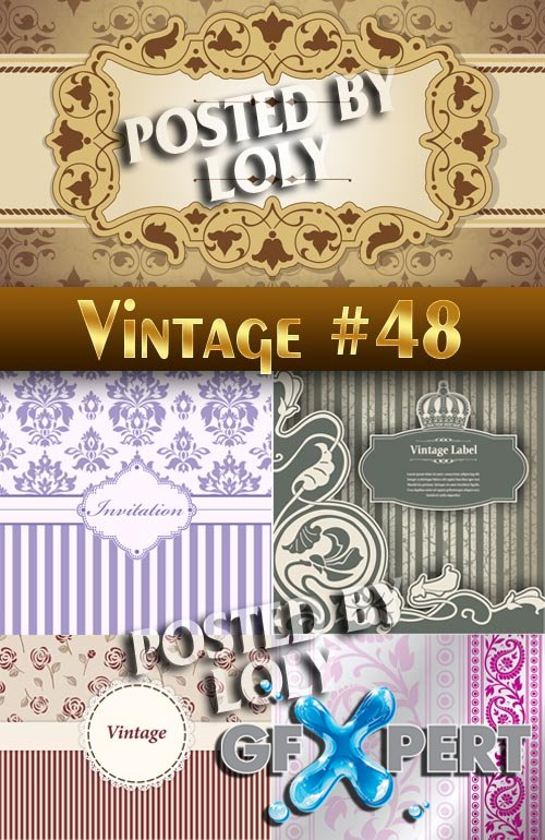 Vintage backgrounds #48 - Stock Vector