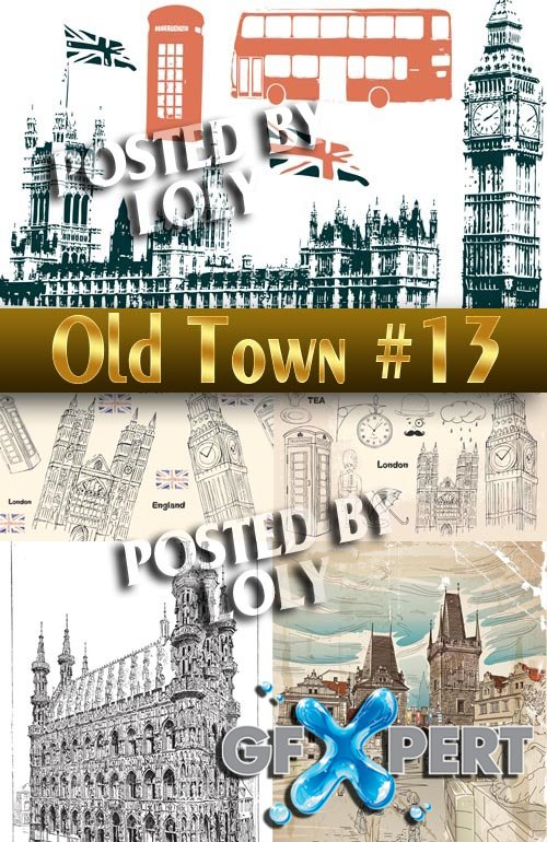 Old Town #13 - Stock Vector
