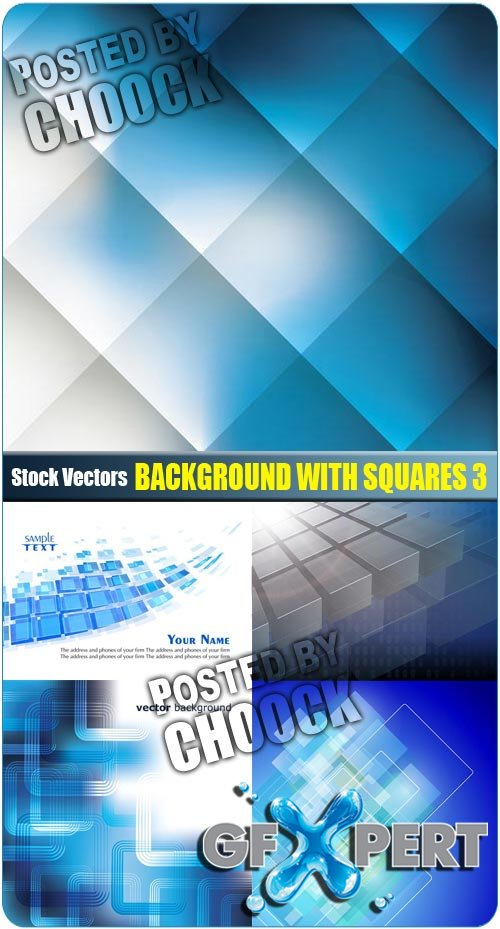 Background with squares 3 - Stock Vector
