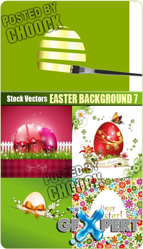 Easter background 7 - Stock Vector