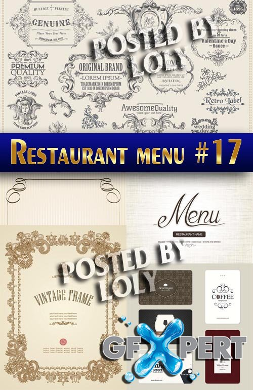Restaurant menus #17 - Stock Vector