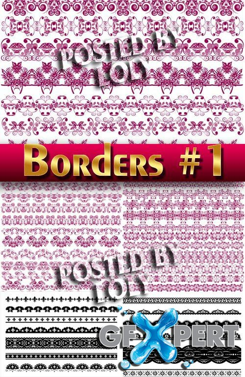 Boarders Collection #1 - Stock Vector