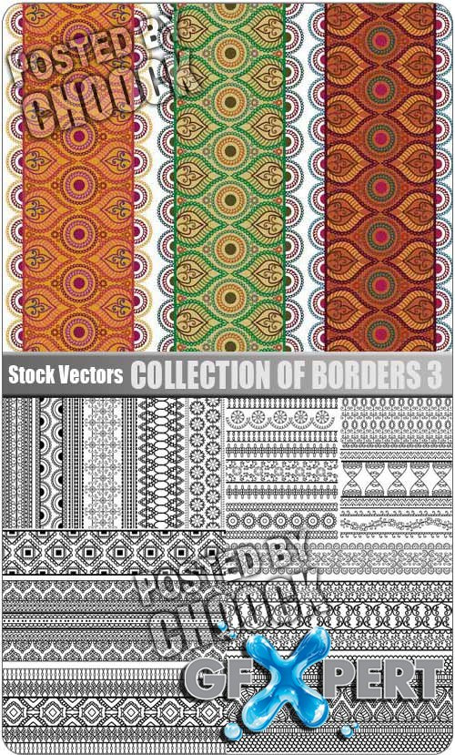 Collection of borders 3 - Stock Vector