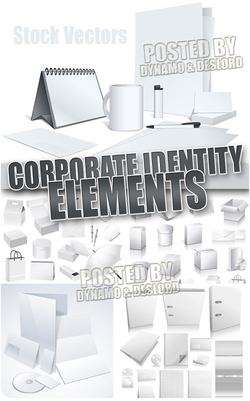Corporate identity elements - Stock Vectors