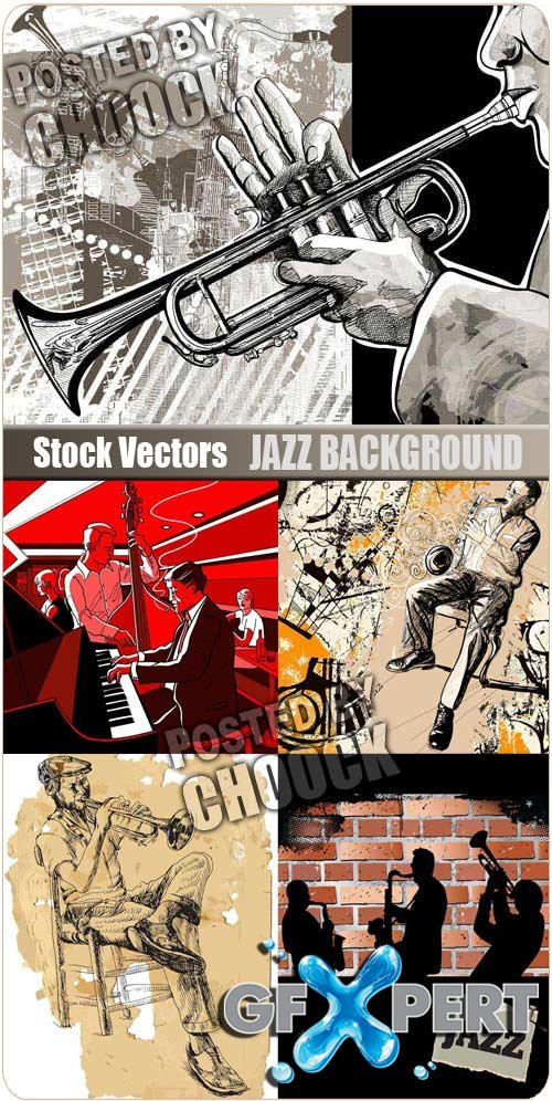 Jazz background - Stock Vector