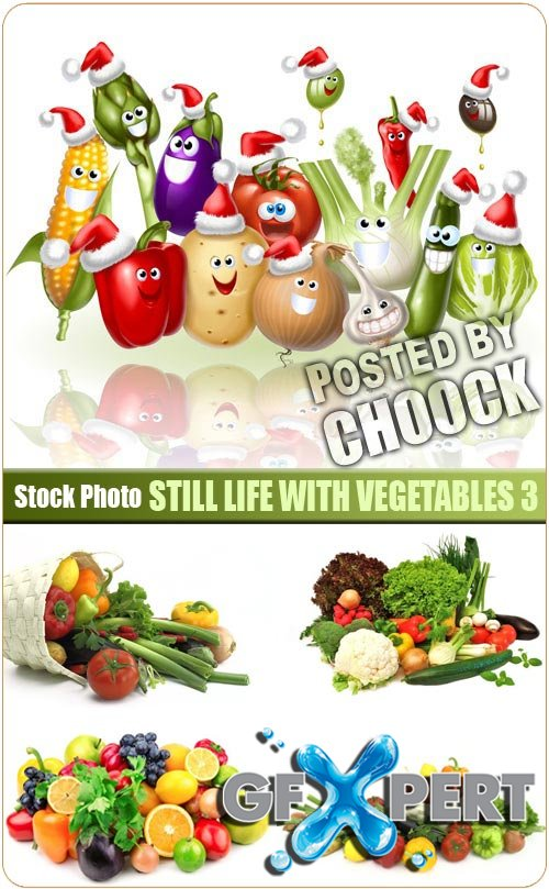 Still life with vegetables 3 - Stock Photo