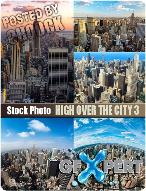 High over the city 3 - Stock Photo