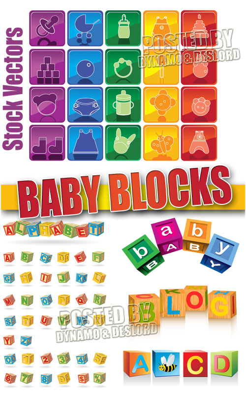 Baby blocks - Stock Vectors