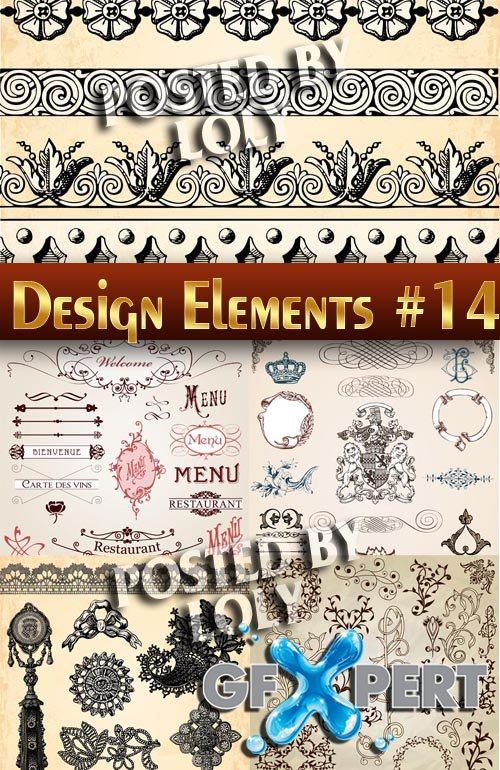 Design elements #14 - Stock Vector