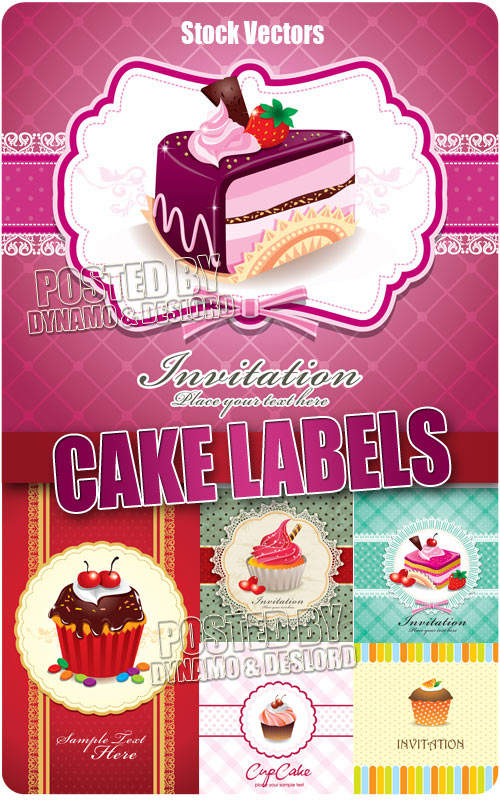 Cake labels - Stock Vectors