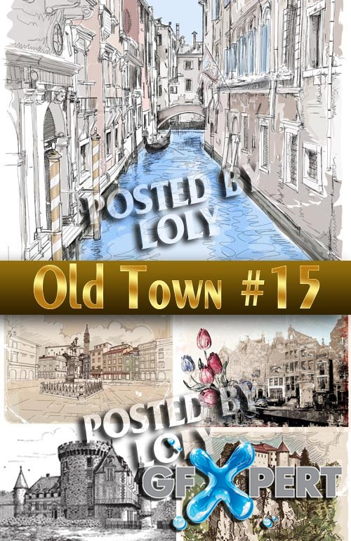 Old Town #15 - Stock Vector