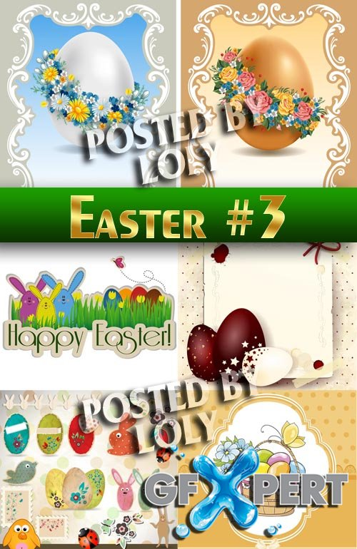 Easter #3 - Stock Vector