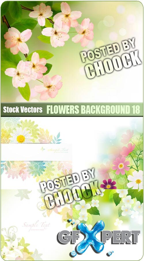 Flowers background 18 - Stock Vector