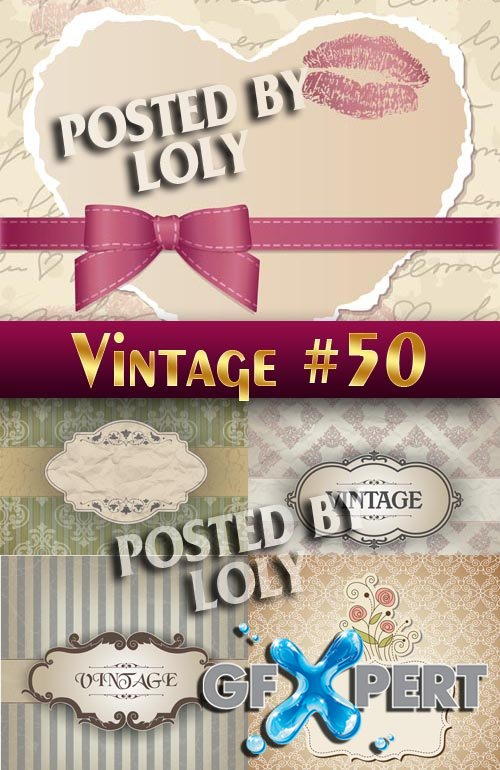 Vintage backgrounds #50 - Stock Vector