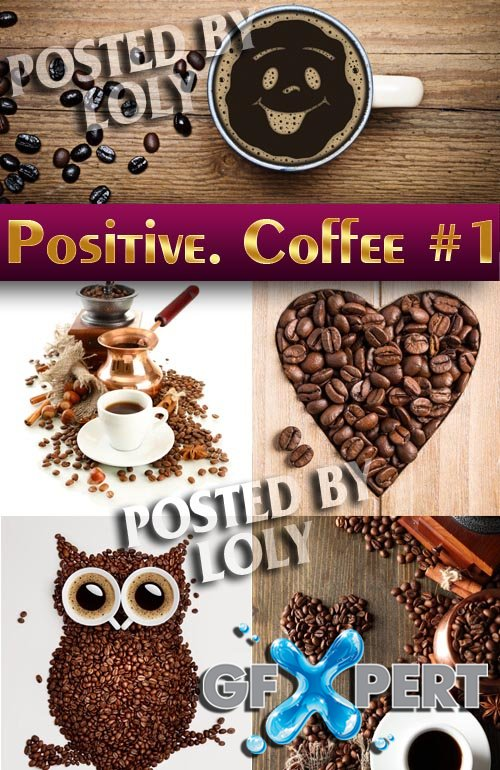 Positive. Coffee #1 - Stock Photo