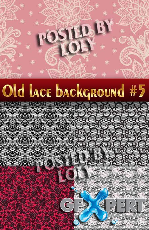 Vintage lace background #5 - Stock Vector