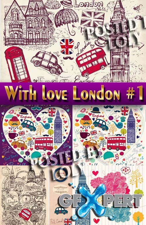 With love from London #1 - Stock Vector