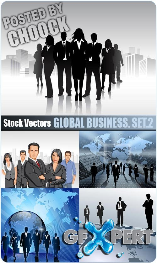Global business. Set.2 - Stock Vector