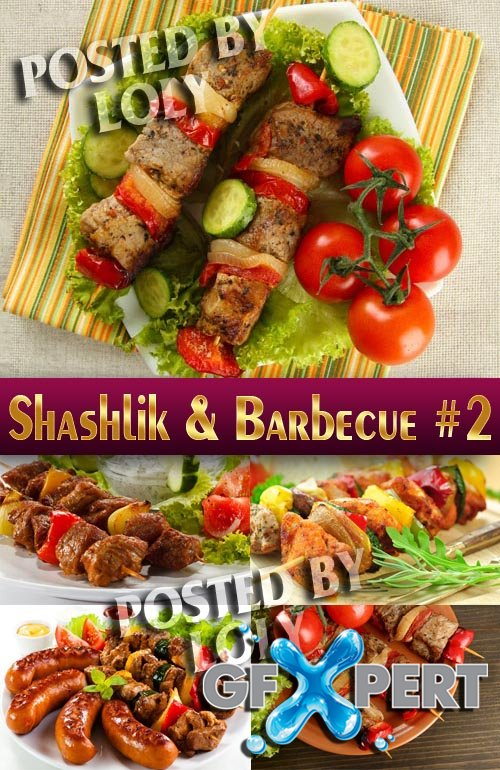 Shashlik and barbecue #2 - Stock Photo