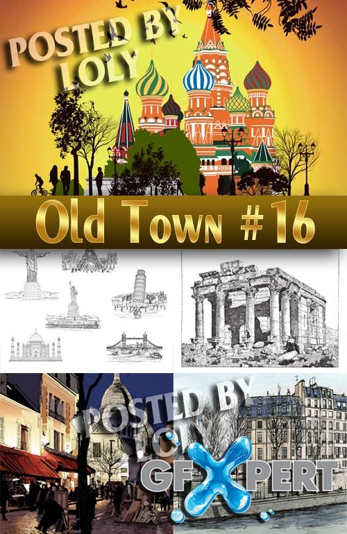 Old Town #16 - Stock Vector