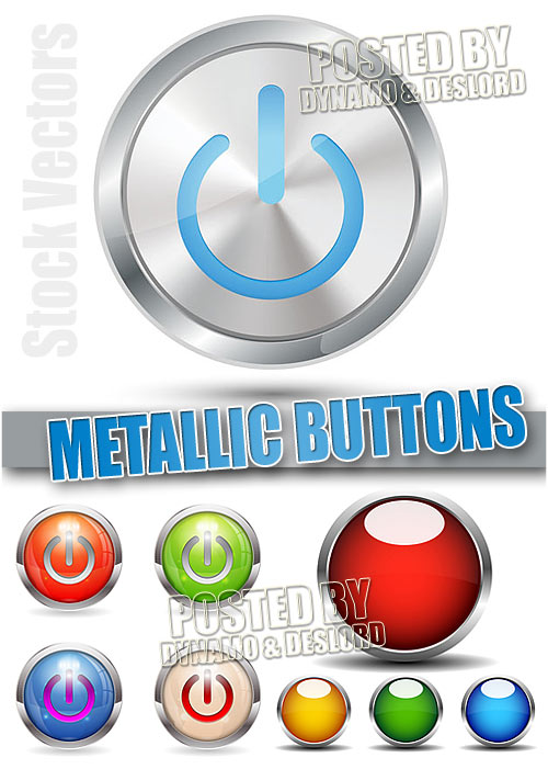 Metallic buttons - Stock Vectors