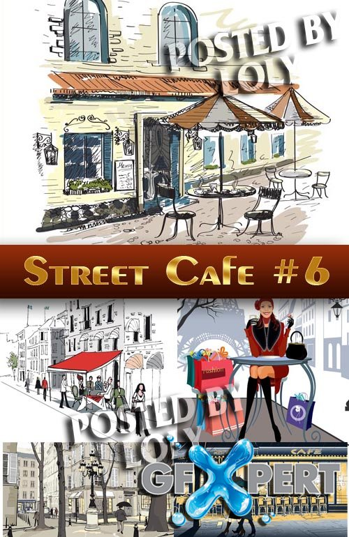 Street Cafe #6 - Stock Vector