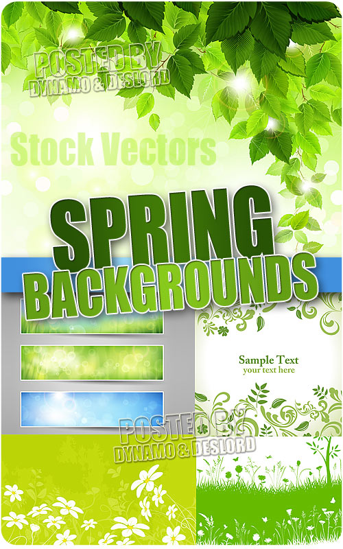 Spring backgrounds - Stock Vectors