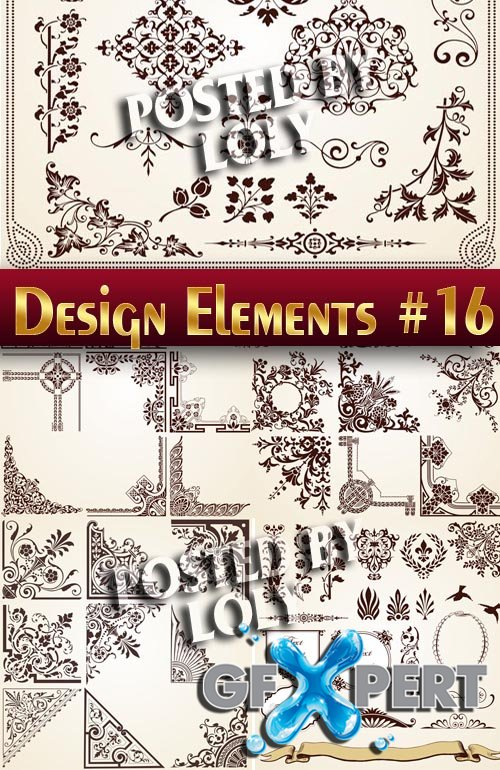 Design elements #16 - Stock Vector