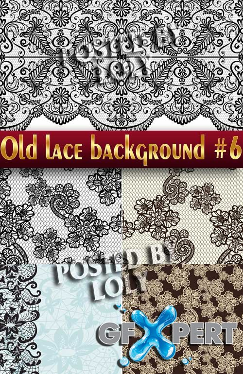 Vintage lace background #6 - Stock Vector