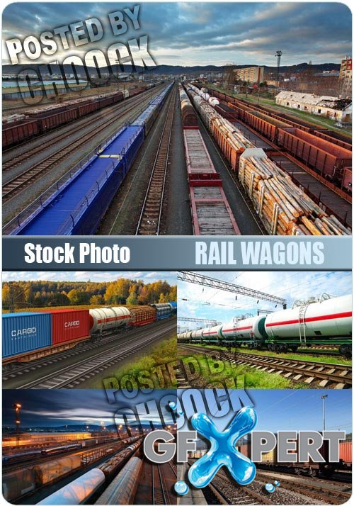 Rail wagons - Stock Photo