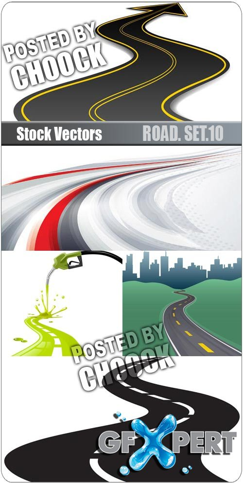 Road. Set.10 - Stock Vector