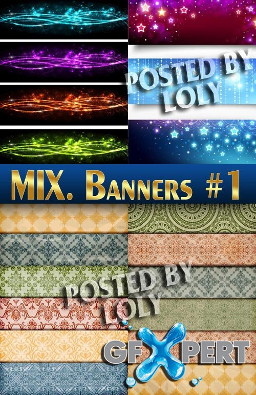 Banners. Mix #1 -  Stock Vector