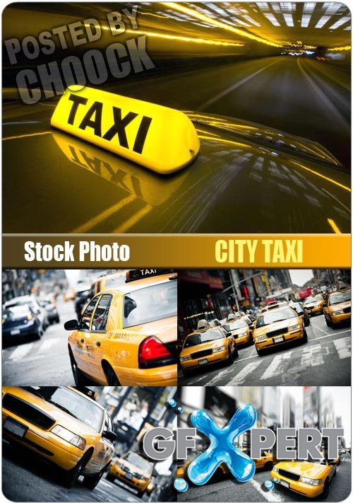 City taxi - Stock Photo