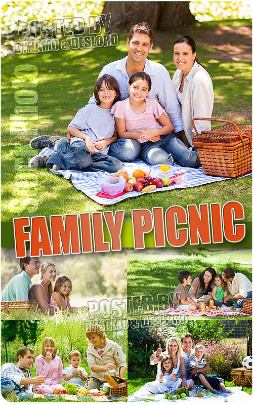 Family Picnic - UHQ Stock Photo