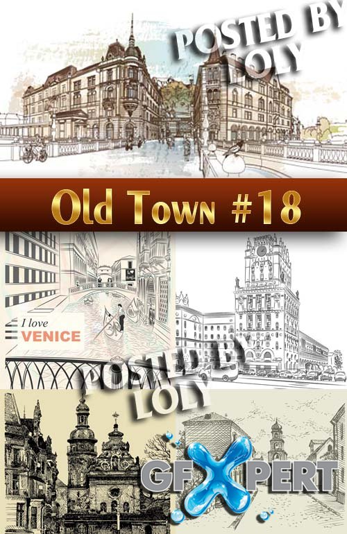 Old Town #18 - Stock Vector