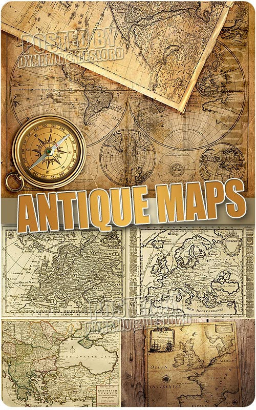 Antique maps - UHQ Stock Photo