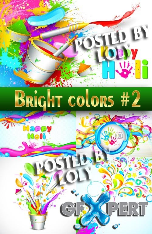 Bright colors #2 - Stock Vector