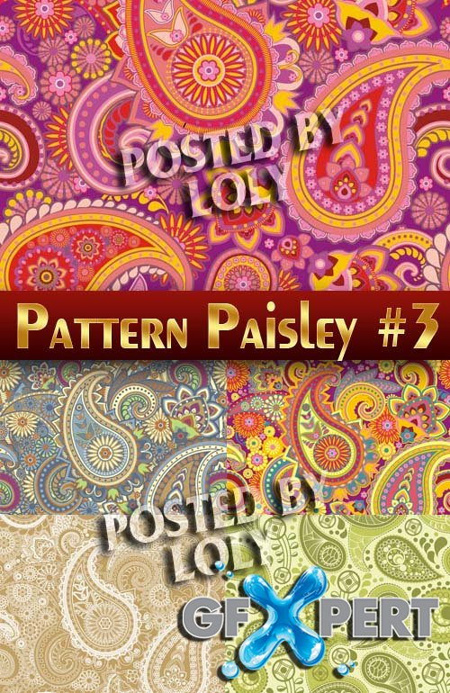 Patterns. paisley design #1 - Stock Vector