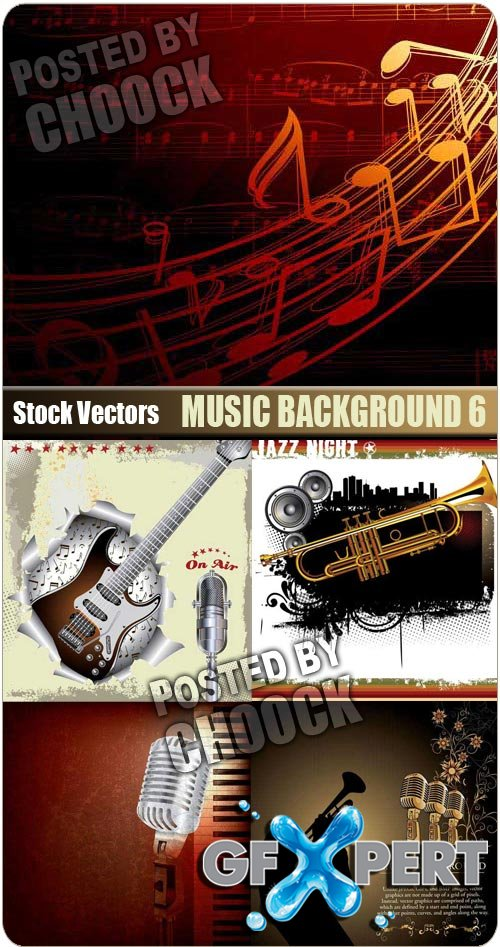 Music background 6 - Stock Vector