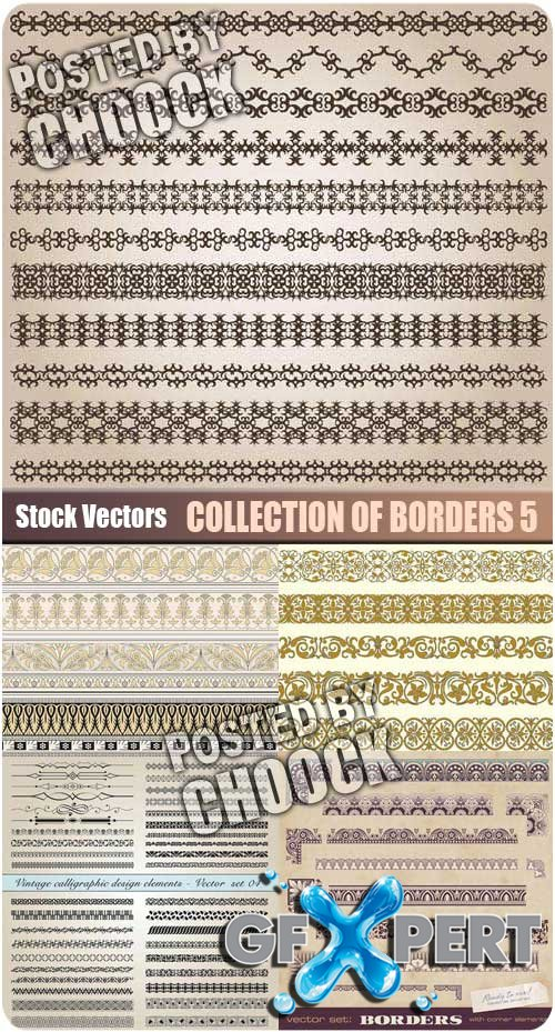 Collection of borders 5 - Stock Vector