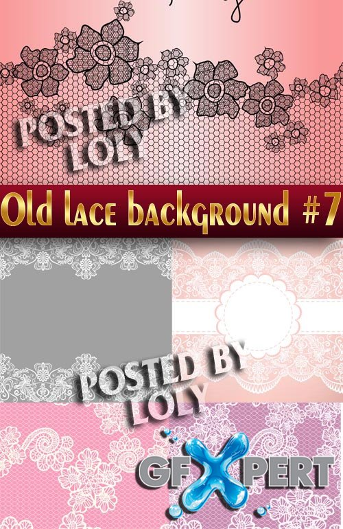 Vintage lace background #7 - Stock Vector