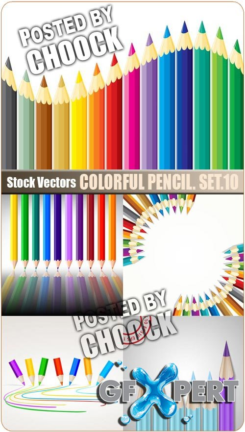 Colorful pencil. Set.10 - Stock Vector
