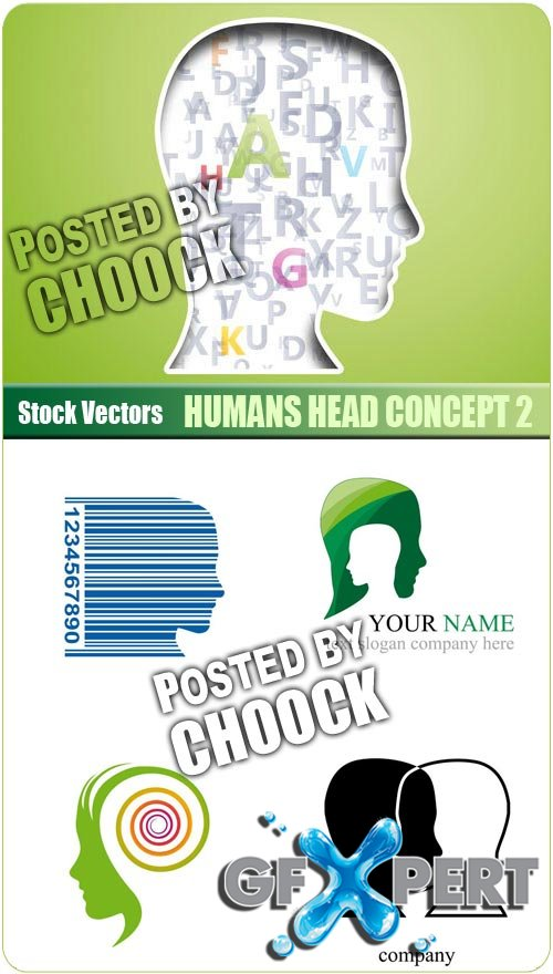 Humans head concept 2 - Stock Vector