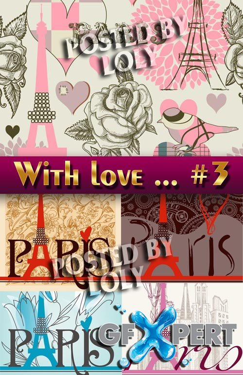 With love from Paris #3 - Stock Vector